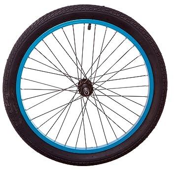 50,8 cm turquesa rueda con manillares para bicicleta o en la parte delantera de