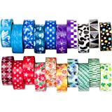 Washi Tape Rainbow Set of 20 Rolls, Decorative Masking Tape Collection for DIY and Gift Wrapping by United Tapes