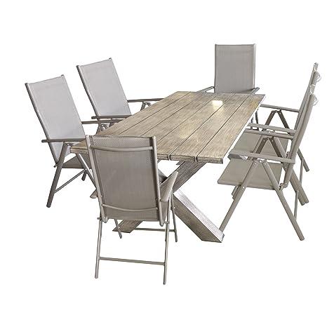 Tavoli Da Giardino In Alluminio Pieghevoli.Wohaga Ottieni Tavolo Da Giardino In Alluminio Effetto