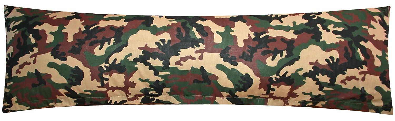 Camouflage Tarnmuster Milit/är in gr/ün rot und Olive /Öko-Tex 100/% Baumwolle Stillkissenbezug Heubergshop Baumwoll Renforc/é Seitenschl/äferkissen Bezug 40x145cm 200-2-B