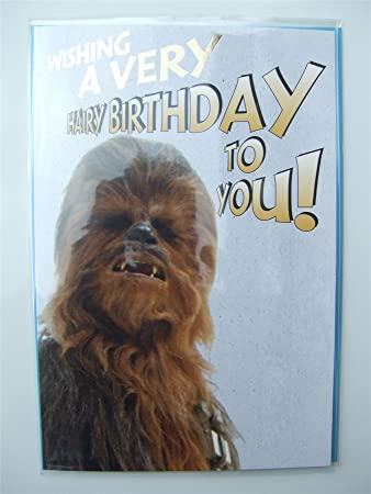 Star Wars Chewbacca Birthday Card For Any Age By Hambledon Studios