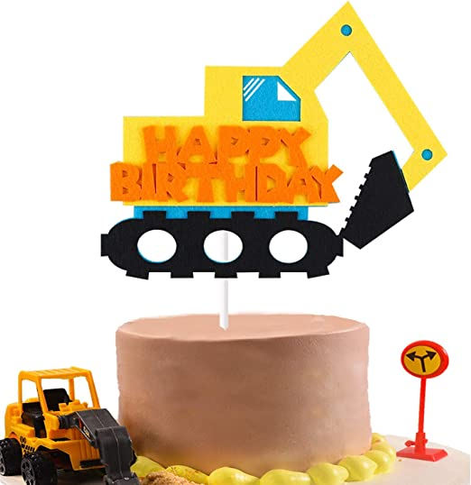 Magnificent Amazon Com Beyumi Construction Truck Birthday Cake Topper For Personalised Birthday Cards Beptaeletsinfo