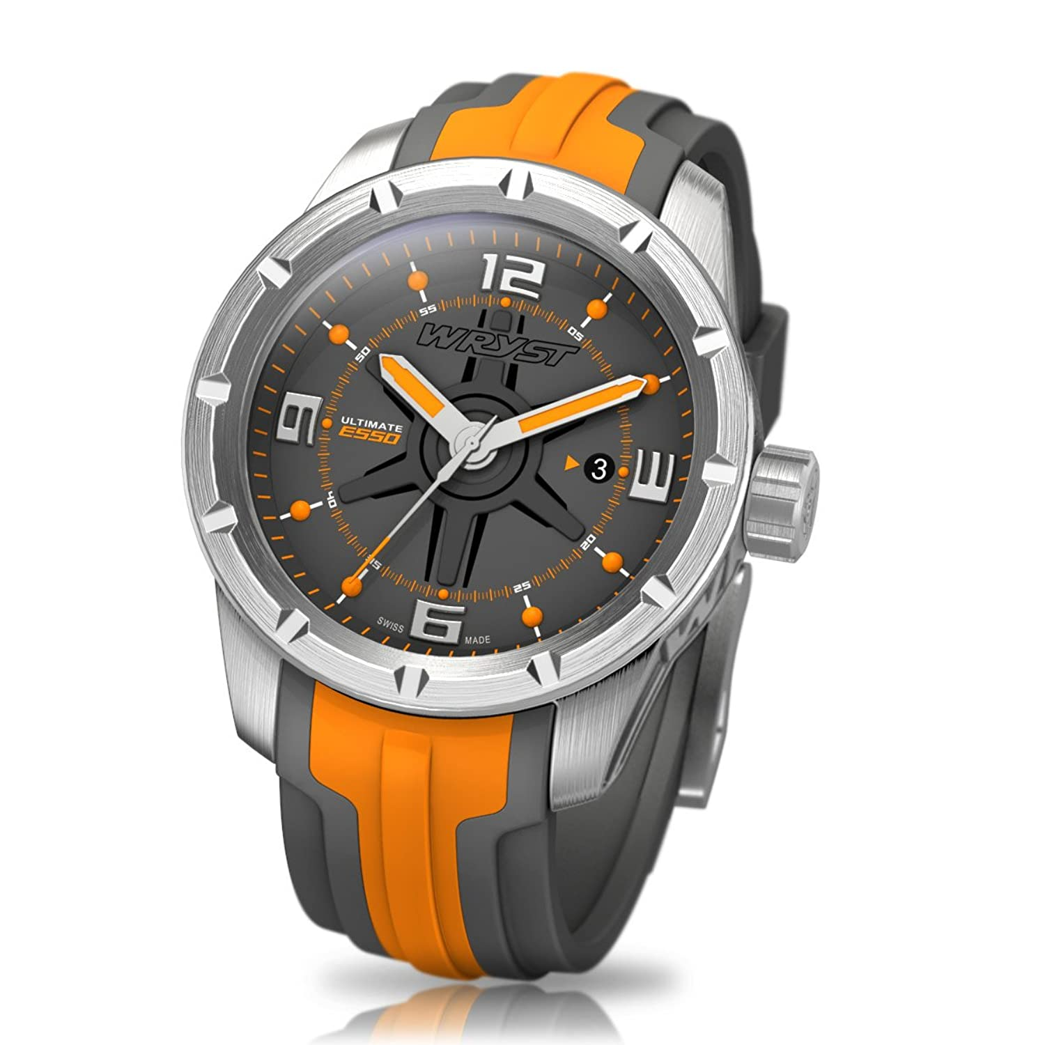 Orange Swiss Sport Armbanduhr wryst Ultimate ES50 FÜr extreme sports