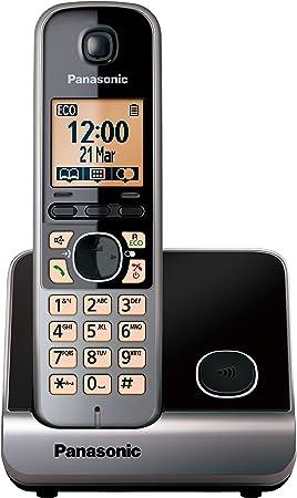 Panasonic KX-TG6751 - Teléfono fijo inalámbrico (Repetidor, teclado y LCD Iluminado, identificador de llamadas 100 números, bloqueo de llamadas, modo ...