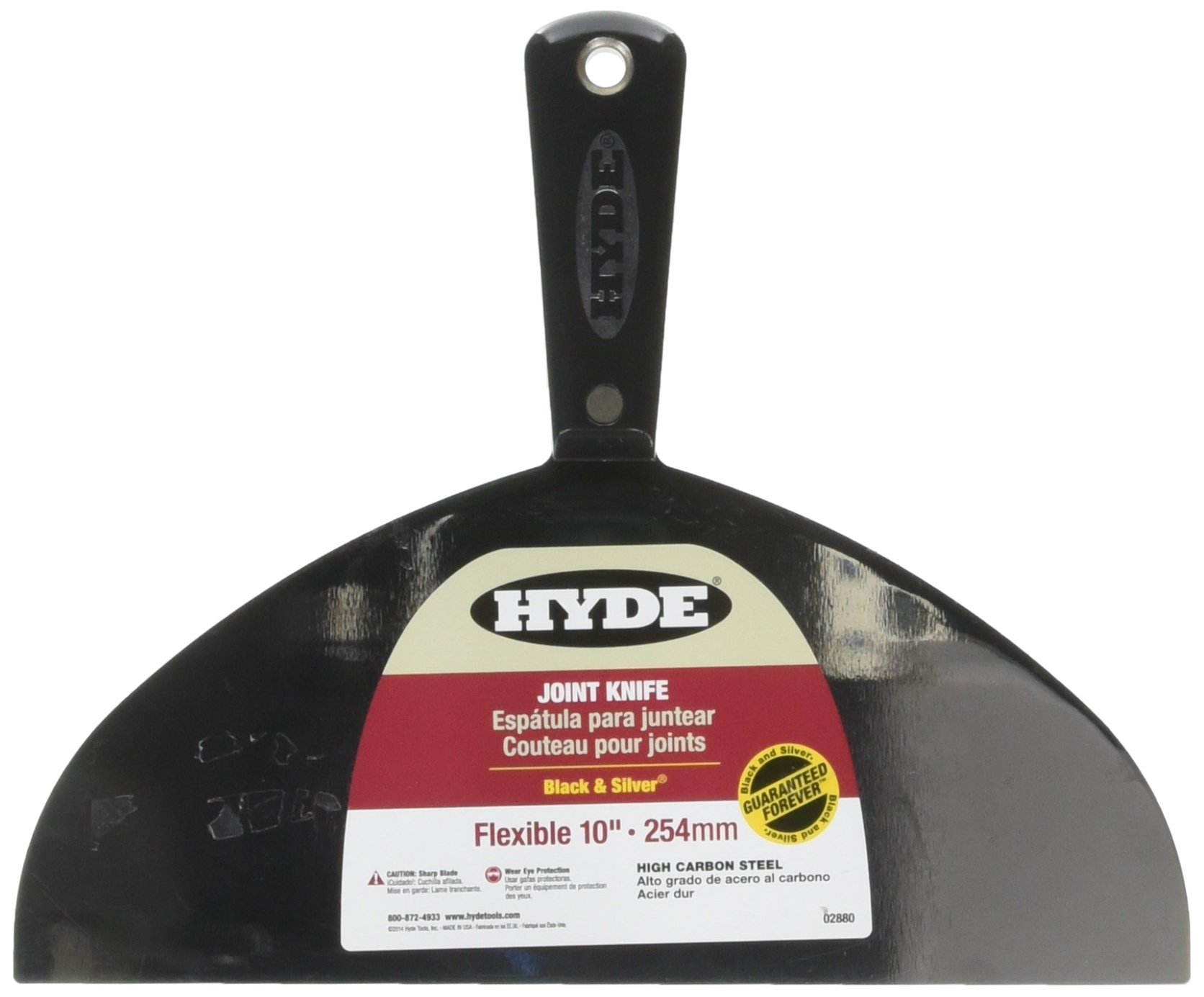 Hyde Tools 02880 10-Inch Flex Joint Knife, Black and Silver