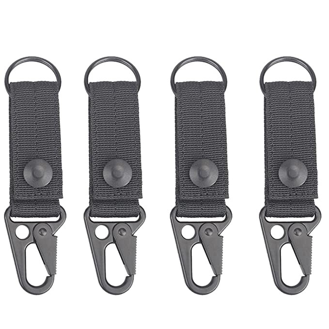 Tactical Molle Key Ring Gear Key Keeper Keychain Snap Secure