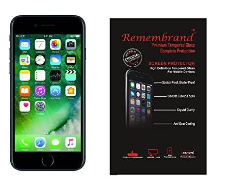 Remembrand Front  amp; Back Tempered Glass for Apple iPhone 6/6S  Transparent  Screen guards