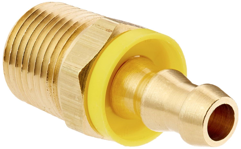 Brennan Industries 2113-06-08-B Brass Straight Tube Fitting 3//8 Hose x 1//2-14 Male NPTF