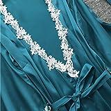 Lelili Women Satin Silk Lace Patchwork Lace Up
