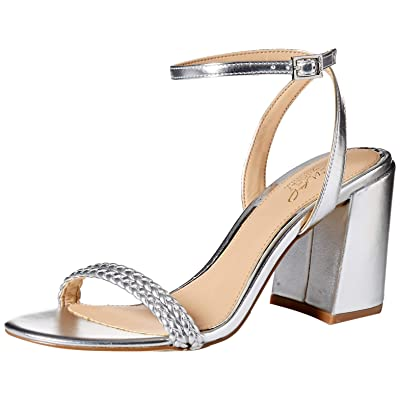 Jewel Badgley Mischka Women's Suri Heeled Sandal, Silver, 9 M US | Heeled Sandals