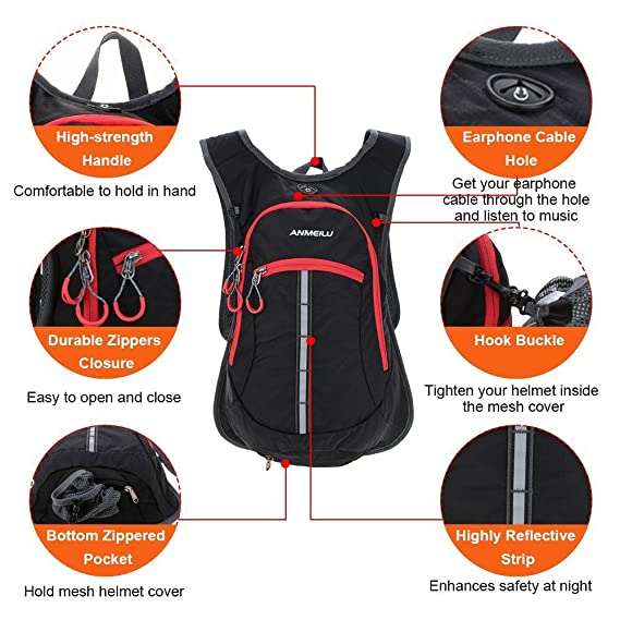 2edc693cd901 Amazon.com : TOKERS Backpack Outdoor Sports Hydration Rucksack for ...