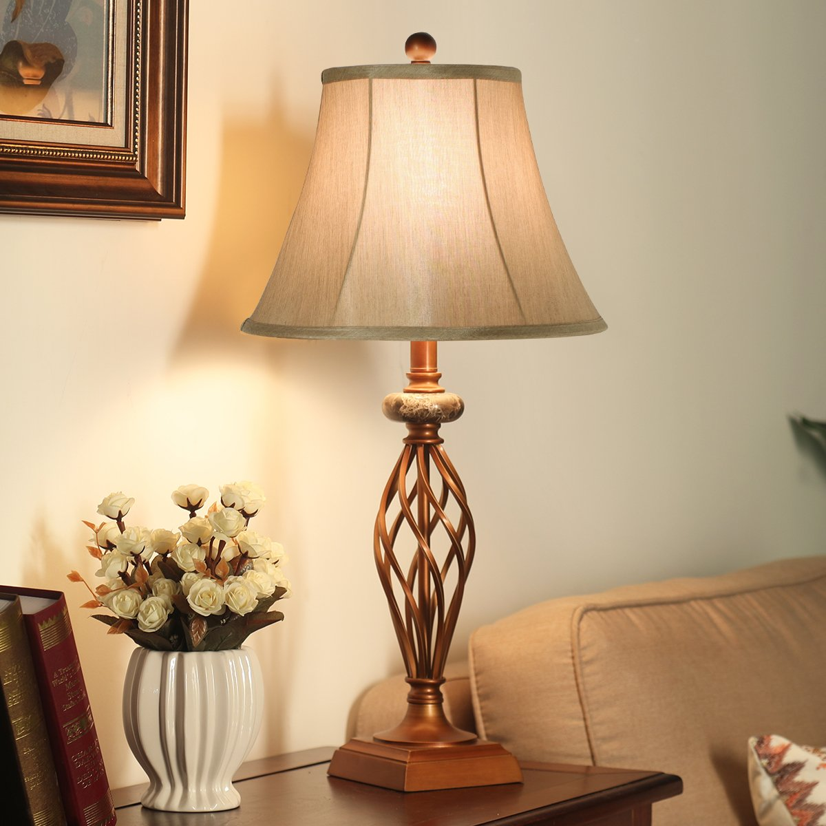 Living Room Lamp Sets: Table Lamps Set Of 2 For Bedroom Or Living Room, 27.5 In