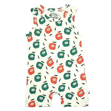 Babysoy Lightweight Organic Cotton Pattern Print Tank Romper//Shortall