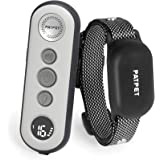 PATPET Small Size Dog Training Collar w/3 Safe Training Modes, Rechargeable IPX7 Waterproof Shock Collar with Remote, 3000 Ft