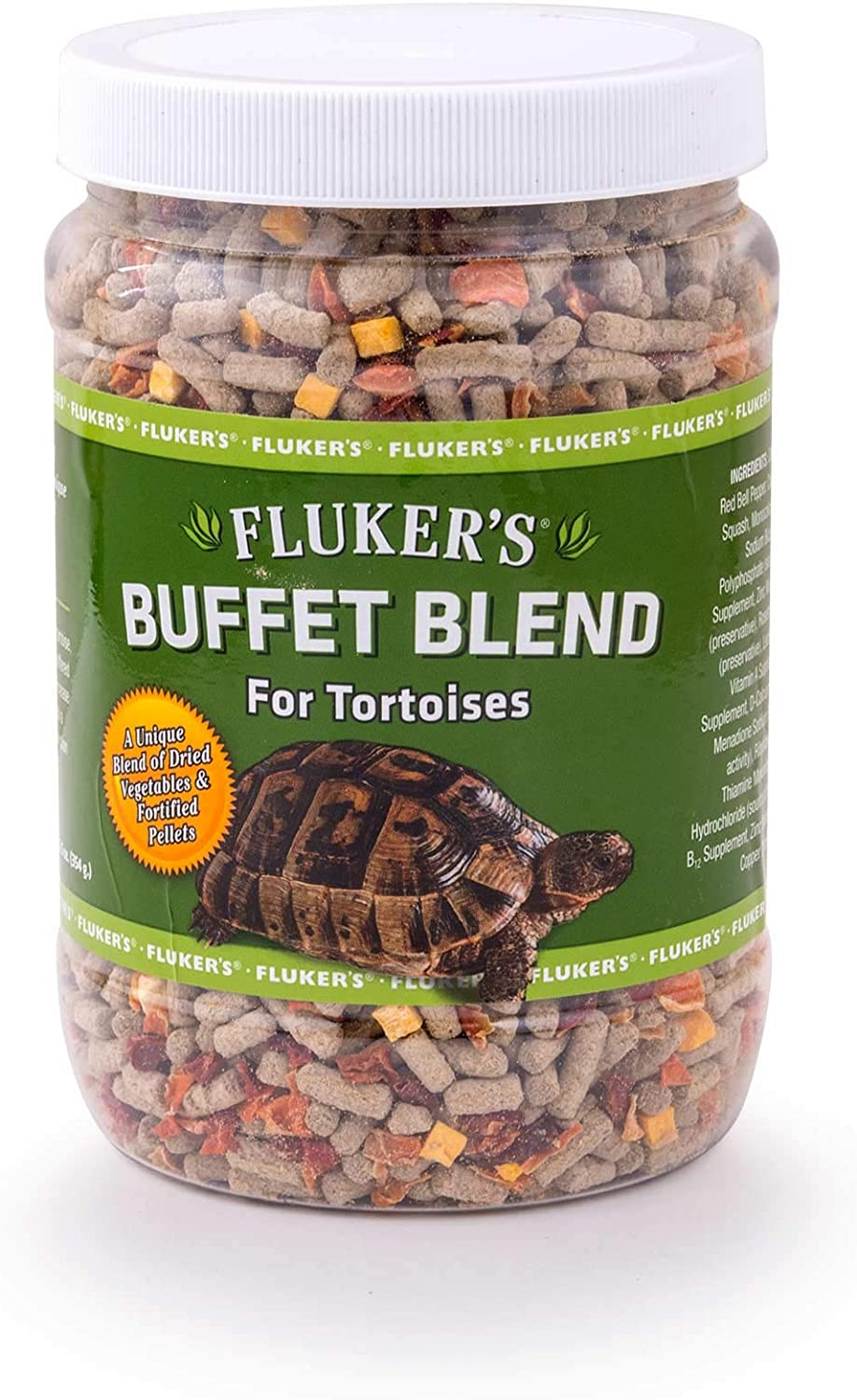 Flukers 70024 Buffet Blend Tortoise Food, 12.5Oz