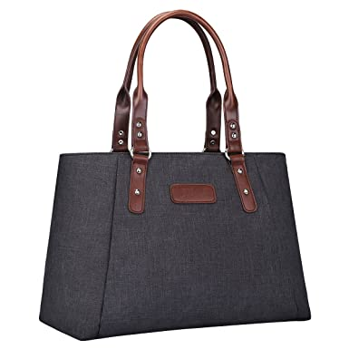 b8c22e1ac5 S-ZONE Women s Handbags Lightweight Large Tote Casual Work Bag (Black)