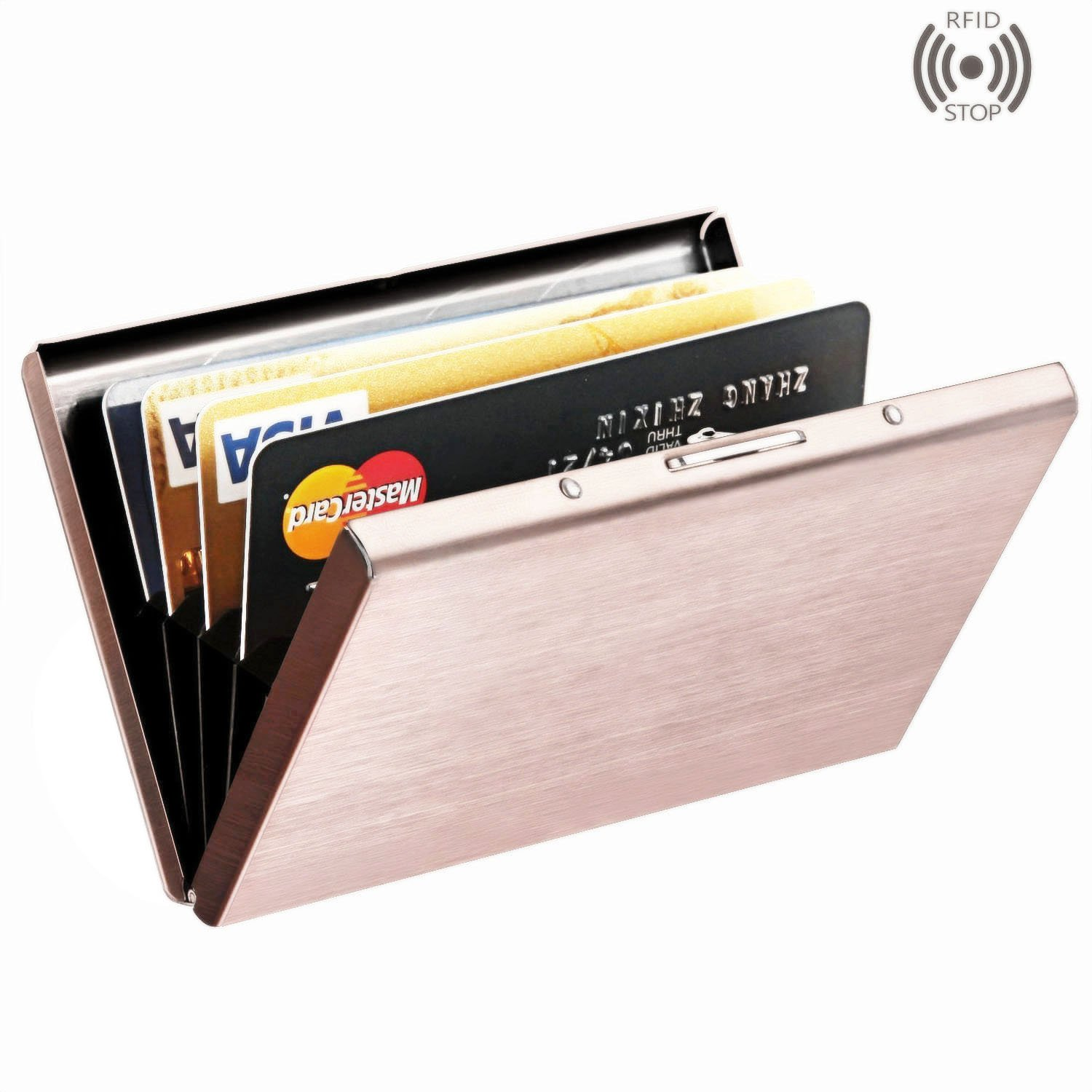 Best Rfid Blocking Credit Card Holder, Maxgear™ Stainless Steel Card Holder  Case For Travel And Work, Steel Metal Slim Wallet , Credit Card Case For