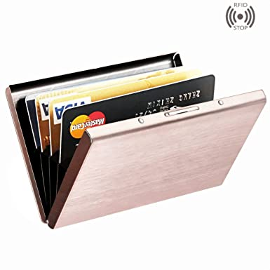 Amazon best rfid blocking credit card holder maxgeartm best rfid blocking credit card holder maxgeartm stainless steel card holder case for travel and reheart Gallery