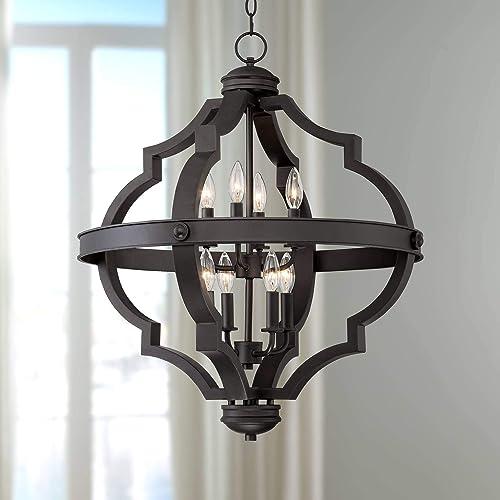Cheap Sabine Bronze Ornate Cage Pendant Chandelier 25 1/4″ Wide 8-Light Fixture dining room chandelier for sale