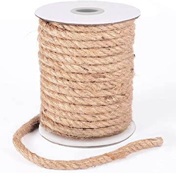 Gifts and Home Packaging Arts and Crafts Bundling Decoration Gardening HOMYHOME Jute Rope 10 mm Natural Jute Burlap Twine String Hessian Rope Cord 30M Twine Craft for Industrial