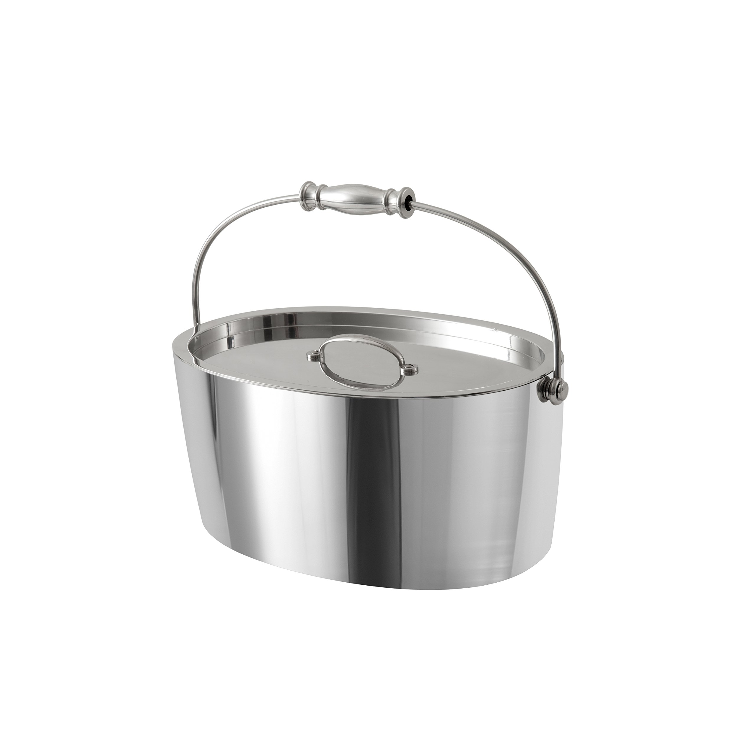 Crafthouse by Fortessa Professional Metal Barware/Bar Tools by Charles Joly, 12'' x 5.25'' Stainless Steel Ice Bucket with Handle and Drain Tray by Crafthouse by Fortessa