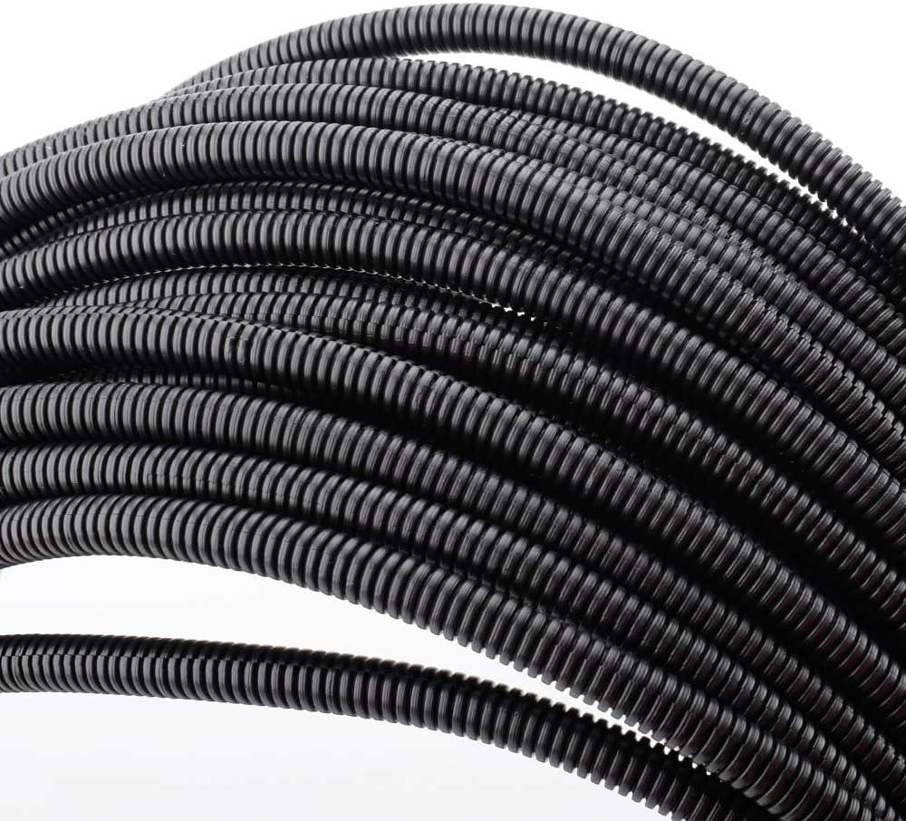"100 FT 1/4"" Wire Loom Split Tubing Auto Wire Conduit Flexible Cover: Electronics"