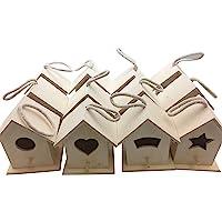 Oojami Design Your Own Wooden Birdhouses 12 Bird House Bulk (Modern)