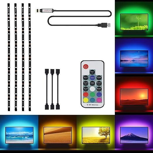 LED Tira USB Para TV, OriFiil 2M Retroiluminación LED Impermeable ...
