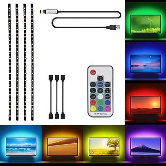 50CM SMD5050 RGB USB LED Leiste Strip Streifen Band Fernbedienung TV Backlight