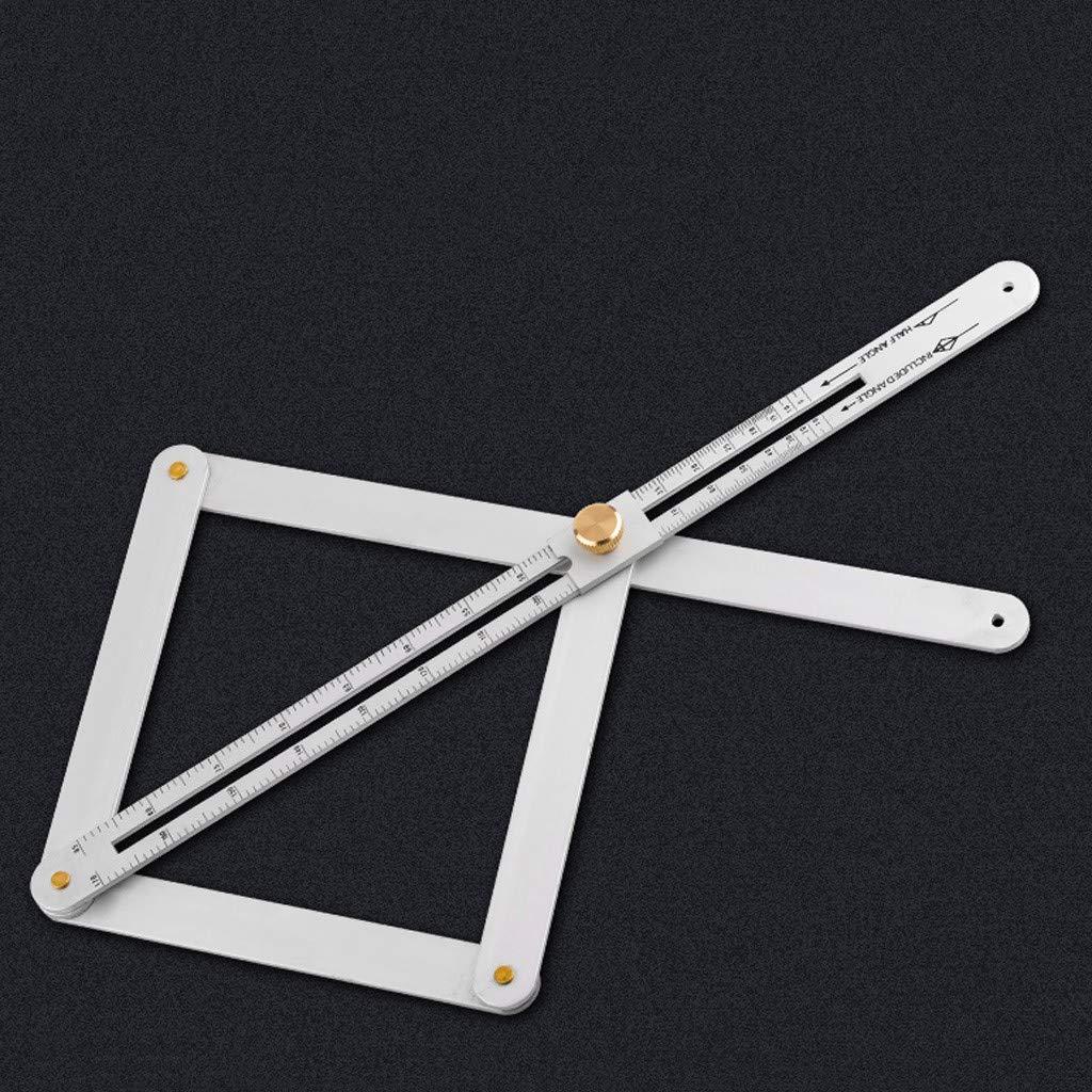 Lega di Alluminio Ricerca DellAngolo Angolo Manufatto Soffitto Quadrato Strumento Goniometro Strumenti di Misurazione per Costruttori Tuttofare Koojawind Righello di Misurazione DellAngolo