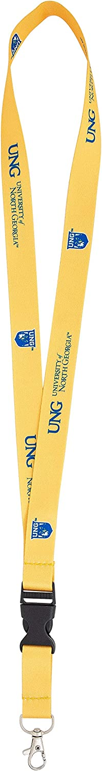 University of North Georgia UNG Nighthawks NCAA Car Keys ID Badge Holder Lanyard Keychain Detachable Breakaway Snap Buckle