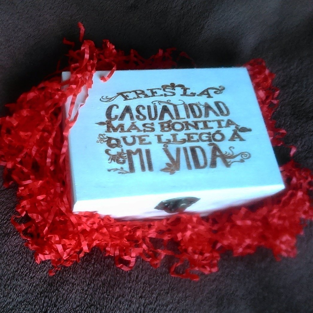 Amazon.com: woodburning Box. Eres la Casualidad más bonita ...