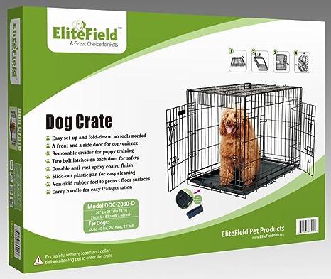 Amazon Com Elitefield 2 Door Folding Dog Crate With Rubber Feet 5