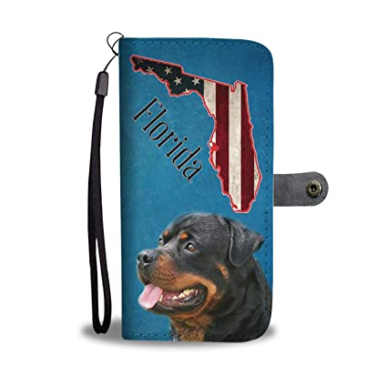 c9efd07d5e16 Amazon.com   Rottweiler Printed Leather Wallet Case for Samsung ...