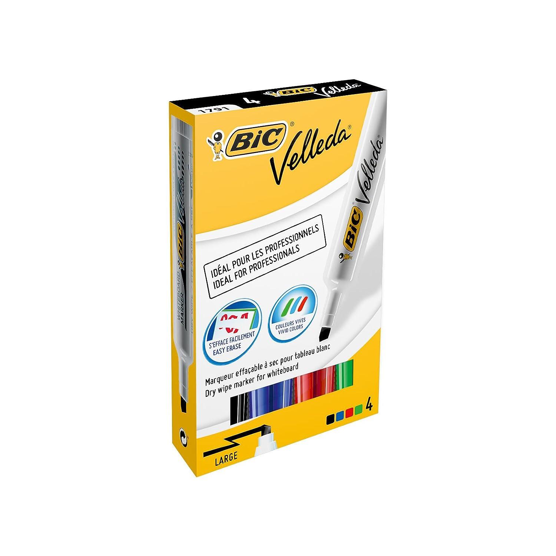 Bic Velleda - Astuccio 4 Pennarelli Colori Assortiti 8757891