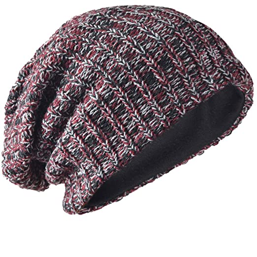 8581adb36d3 FORBUSITE Mens Slouchy Long Beanie Knit Cap for Summer Winter ...
