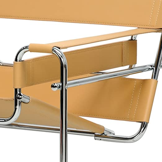 Amazon.com: Baxton Studio Jericho Leather Mid Century Modern Accent Chair,  Tan: Kitchen U0026 Dining