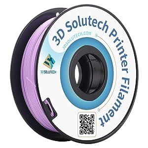 3D Solutech Lavender Purple 3D Printer PLA Filament 1.75MM Filament, Dimensional Accuracy +/- 0.03 mm, 2.2 LBS (1.0KG) - 3DSPLA175LPR