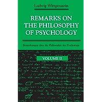 Remarks on the Philosophy of Psychology V 2 (Paper): 002