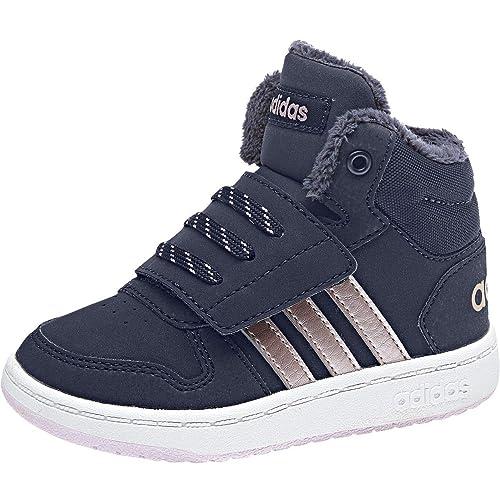Adidas HOOPS 2.0 Mid Damen Sneaker Blau
