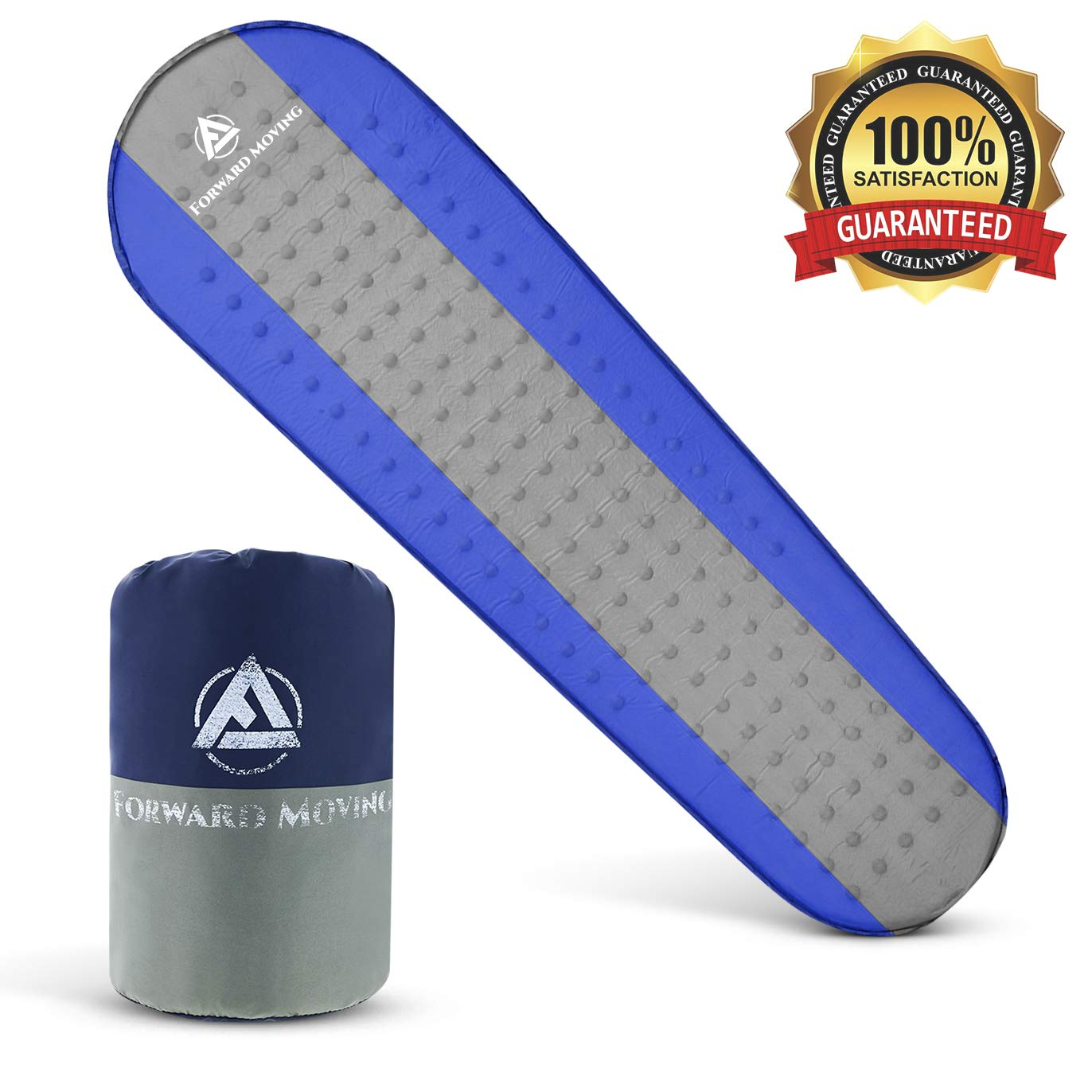 Thickness 1.5 Foam Sleeping Pad for Camping Mattress for Kids /& Adults Hiking /& Backpacking Inflates Quickly Forward Moving #1 Premium Sleeping Mat Sleep Comfortably Anywhere