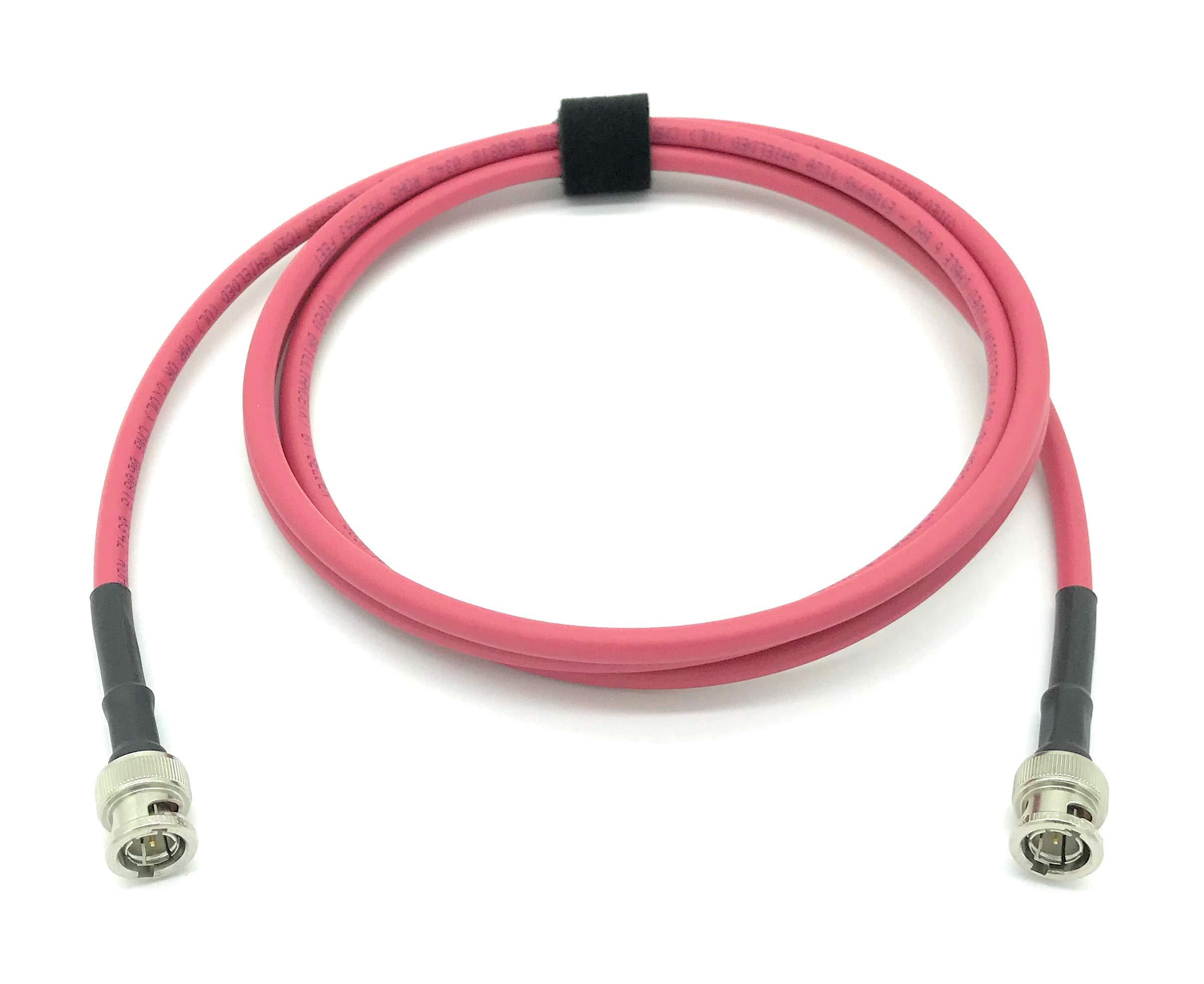 AV-Cables 3G/6G HD SDI BNC - BNC Cable Belden 1505A RG59 - Red (300ft)