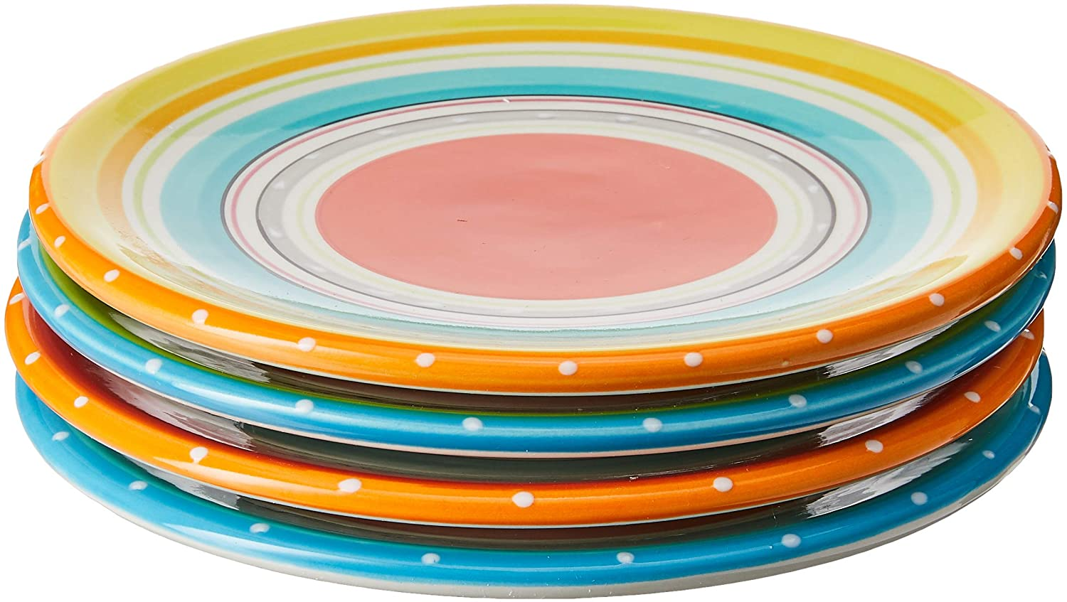 Certified International Mariachi Canape Plates (Set of 4), 6