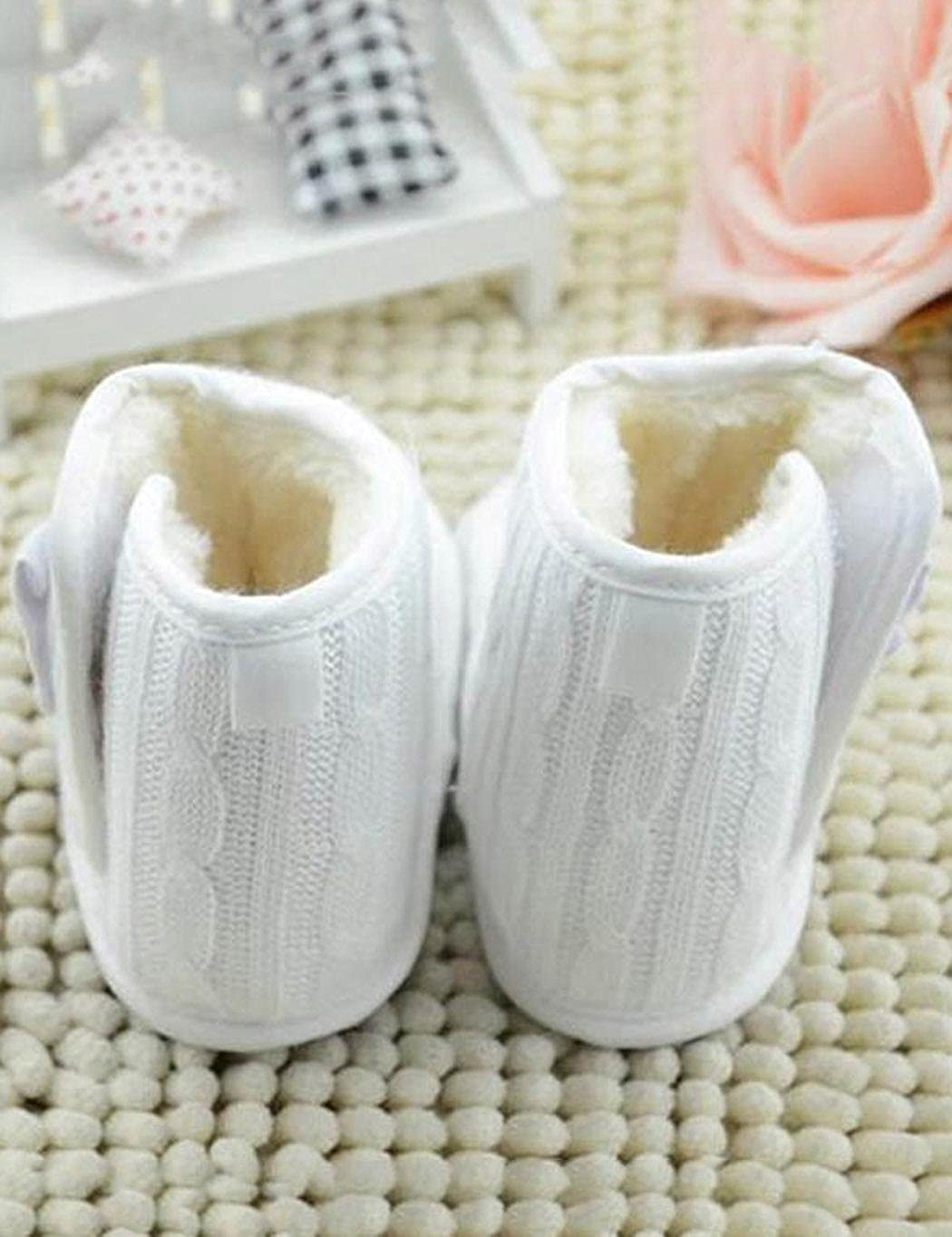 Esqlotres Toddler Boot Shoes Infant Baby Winter Snow Boots Anti-Slip Crib Shoes Boots
