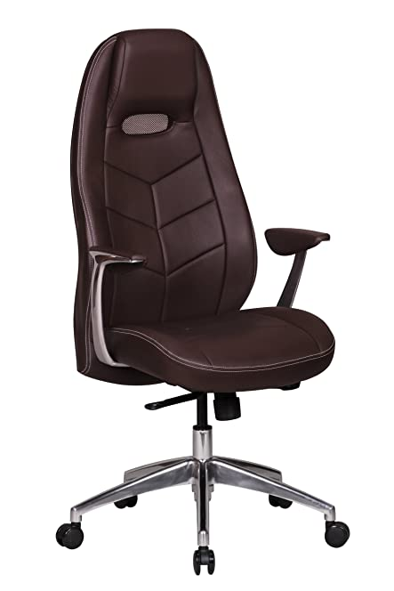 Leather Executive office Chair brown Computer Work Desk high Back