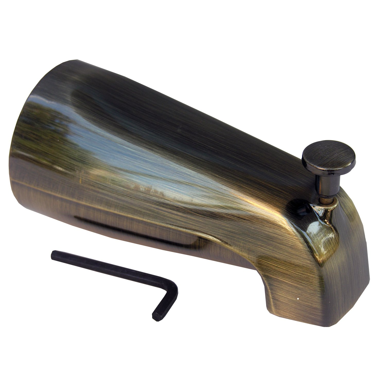 LASCO 08-1015 Bathtub Spout with Front Lift Diverter, Antique ...