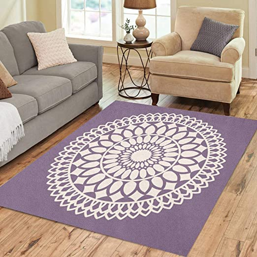 Amazon Com Pinbeam Area Rug Beige Pattern Beautiful Lace Dollie Moroccan Dolly Crochet Home Decor Floor Rug 2 X 3 Carpet Kitchen Dining