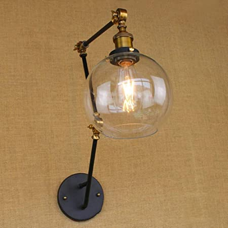 Amazon.com: DLPHWBD Wall Light Globe Shade with Adjustable ...