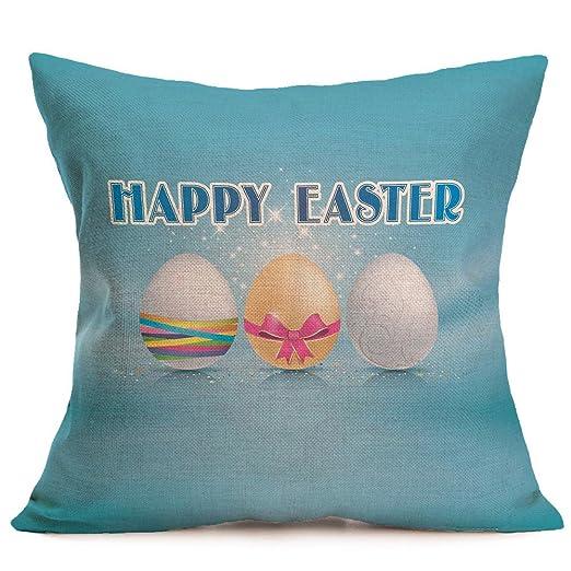 Amazoncom Iybuia Easter Flax Sofa Bed Home Decoration Festival - Hamburger-scatter-cushions