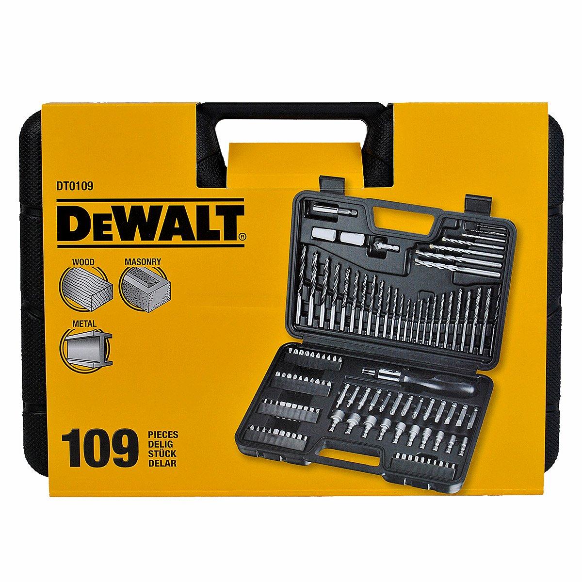 DeWalt DT0109 Screwdriver and Drillbit Set (109 Pieces)